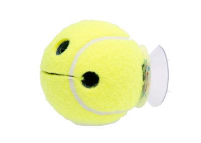 Tennis Geschenk Seitenansicht Happy Tennisball